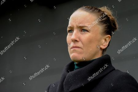 Casey Stoney of Manchester United Women prior to the Barclays WomenÕs Super League match between Tottenham Hotspur Women and Manchester United Women at The Hive Stadium in London, UK - 13th October 2019