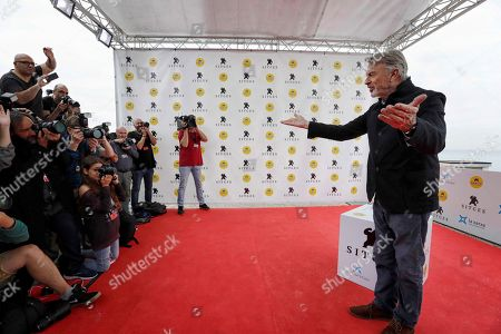 New Zealander actor Sam Neill poses for the media at the 52nd Sitges International Fantastic Film Festival of Catalonia before being awarded for his cinematographic trajectory, in Sitges near Barcelona, Spain, 11 October 2019. The film festival runs from 03 to 13 October.