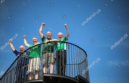 Bobby Cunningham, Stephen Burke, Alan Burke and Frankie Murrin from Co. Donegal