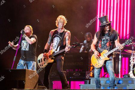 Stock Image of Guns N' Roses - Axl Rose, Duff McKagan and Slash
