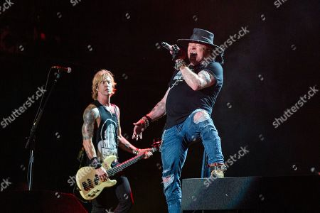 Stock Picture of Guns N' Roses - Duff McKagan and Axl Rose
