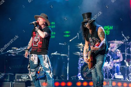 Stock Photo of Guns N' Roses - Axl Rose and Slash