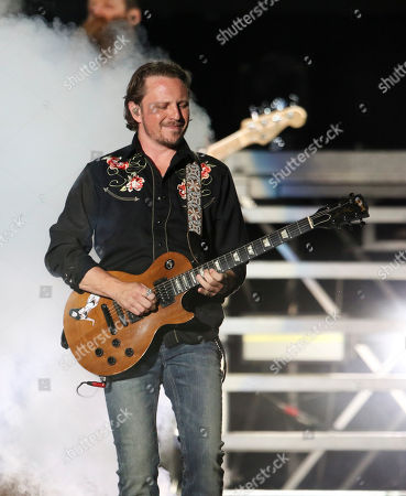 Musician for Brantley Gilbert performs during the Not Like Us Tour at Ameris Bank Amphitheatre, in Atlanta