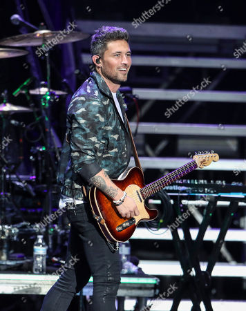 Support act,  Michael Ray performs during the Not Like Us Tour at Ameris Bank Amphitheatre, in Atlanta