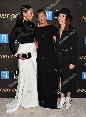 Alicia Keys, Sylvia Rhone, Sara Bareilles