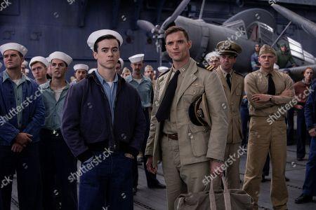 Keean Johnson as Chief Aviation Radioman James Murray and Ed Skrein as Dick Best