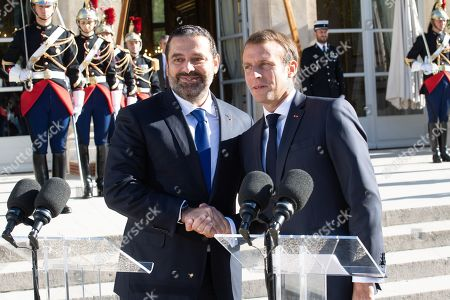 Editorial photo of Lebanese Prime Minister Saad Hariri visit to France - 20 Sep 2019
