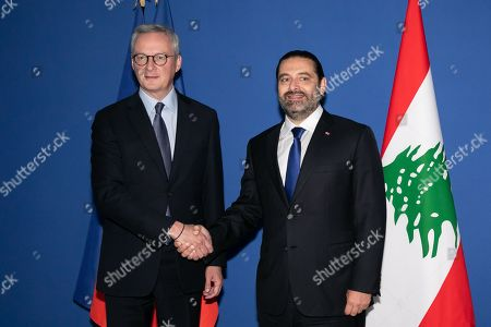 Editorial picture of Lebanese Prime Minister Saad Hariri visit to France - 20 Sep 2019