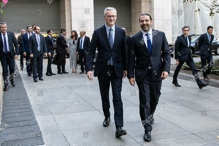 Bruno Le Maire, Minister of Economy and Finance, receives Saad Hariri, President of the Council of Ministers of the Lebanese Republic in Paris