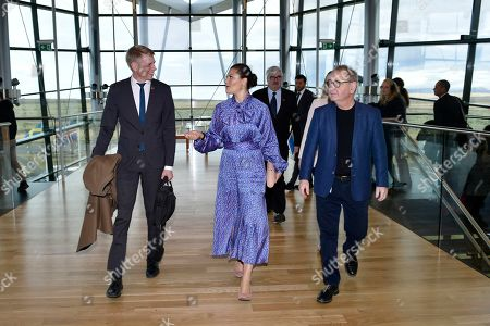Housing Mininster, Per Bolund and CEO Bjarni Bjarnason of CarbFix with Crown Princess Victoria of Sweden during her visit to the CarbFix company in Reykjavik