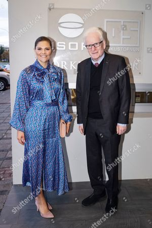 Crown Princess Victoria of Sweden is received by National Energy Authority Director General Dr. Gudni A. Johannesson