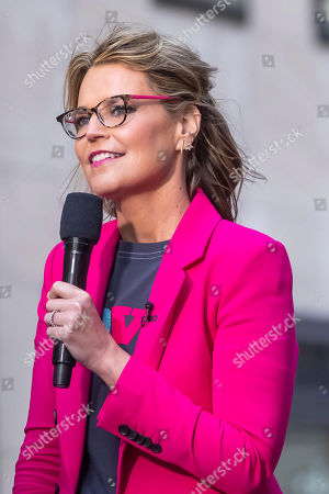 Savannah Guthrie appears on NBC's Today show at Rockefeller Plaza, in New York