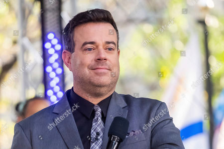 Carson Daly appears on NBC's Today show at Rockefeller Plaza, in New York