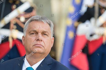 Viktor Orban at Elysee Palace.