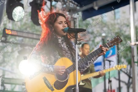 Alessia Cara performs on NBC's Today show at Rockefeller Plaza, in New York