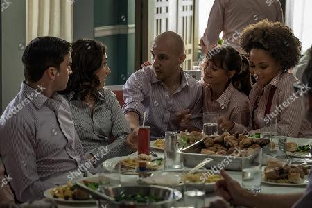 Tom Sturridge as Jake, Eden Epstein as Ariel 'Ari', Daniyar Aynitdinov as Sasha, Ella Purnell as Tess and Jasmine Mathews as Heather