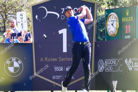Swedish player Robert Karlsson in action during the second round of the Golf Italian Open 2019, Rome,  Italy, 11 October 2019.