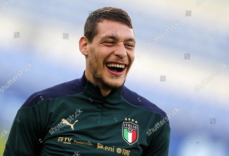 Italy's Andrea Belotti during a training session at the Olimpico stadium in Rome, Italy, 11 October 2019. Italy prepares the UEFA Euro 2020 group J qualifying soccer matches against Greece on 12 October 2019 and Liechtenstein on 15 October 2019.