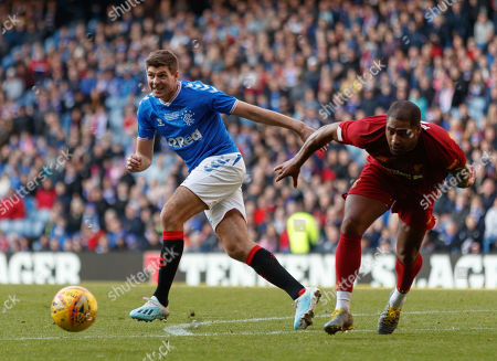 Stock Picture of Steven Gerrard of Rangers & Glen Johnson of Liverpool
