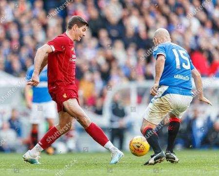 Steven Gerrard of Liverpool & Alex Rae of Rangers