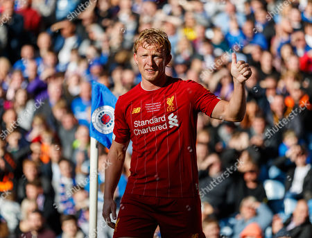 Dirk Kuyt of Liverpool gives a thumbs up