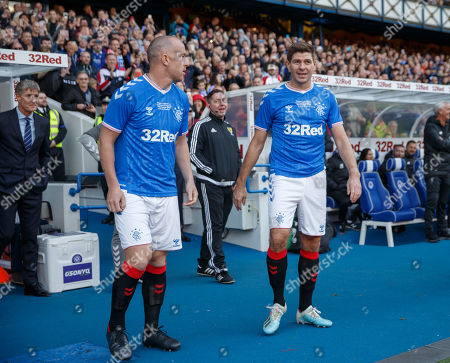 Editorial image of Rangers Legends v Liverpool Legends, friendly, football, Ibrox Stadium, Glasgow, Scotland, UK - 12 Oct 2019