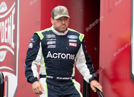Stock Picture of Ryan Newman (6) walks on to the stage during driver introductions at the Drydene 400 - Monster Energy NASCAR Cup Series playoff auto race, at Dover International Speedway in Dover, Del