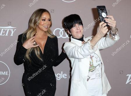 Stock Photo of Mariah Carey and Diane Warren