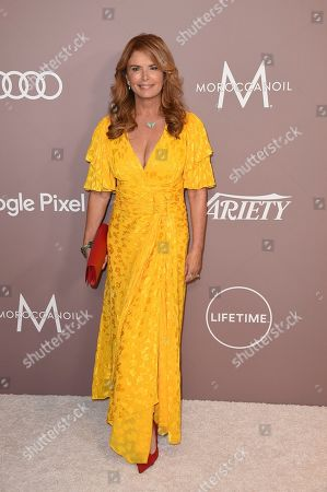 Roma Downey arrives at Variety's Power of Women, at the Beverly Wilshire hotel in Beverly Hills, Calif