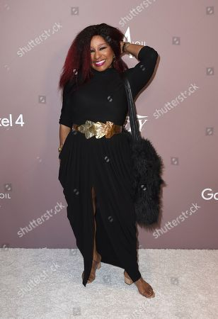 Chaka Khan arrives at Variety's Power of Women, at the Beverly Wilshire hotel in Beverly Hills, Calif