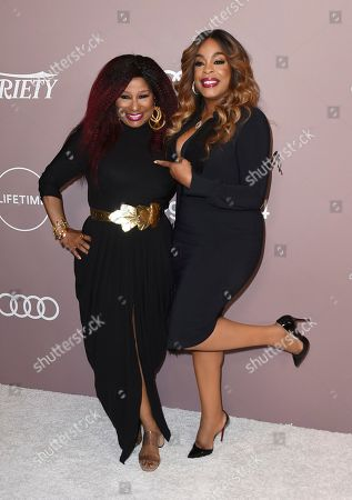 Chaka Khan, Niecy Nash. Chaka Khan, left, and Niecy Nash arrive at Variety's Power of Women, at the Beverly Wilshire hotel in Beverly Hills, Calif