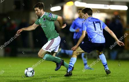 Cork City vs UCD. Cork City's Gearoid Morrissey and UCD's Dara Keane