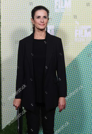 Livia Firth arrives to the European premiere of the film 'Western Stars' in London, Britain, 11 October 2019. The 2019 BFI Film Festival runs from 02 to 13 October.