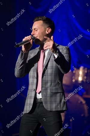 Editorial photo of Nathan Carter in concert at the Glasgow Royal Concert Hall, Glasgow, Scotland, UK - 11 October 2019