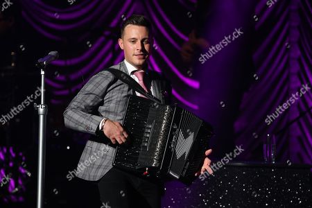 Editorial image of Nathan Carter in concert at the Glasgow Royal Concert Hall, Glasgow, Scotland, UK - 11 October 2019
