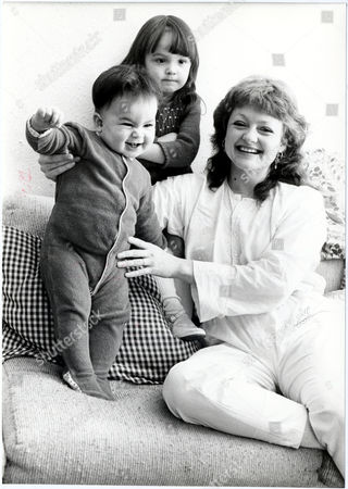 Editorial image of Gina Rowe Wife Of Actor Art Malik With Their Two Children Jessica (nearly Three) And Keira (nearly 1) At Their Surrey Home.