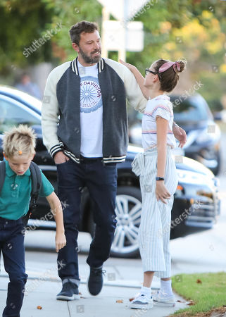 Ben Affleck and his children, Samuel Affleck and Violet Affleck