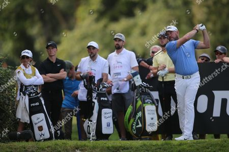 Lee Westwood in action during the Second Round