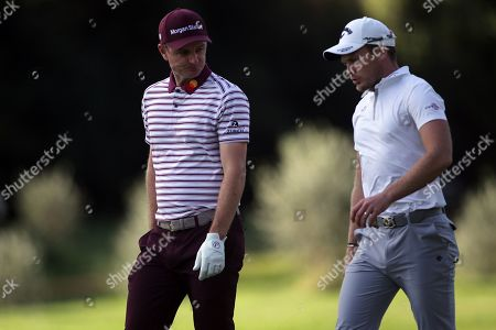 Stock Image of Justin Rose and Danny Willet in action during the Second Round