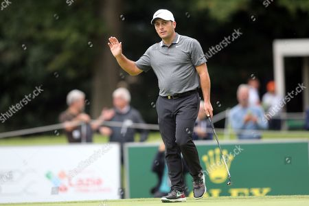 Francesco Molinari in action during the Second Round