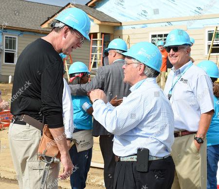 Jonathan Reckford, CEO of Habitat for Humanity International and Nashville Mayor John Cooper
