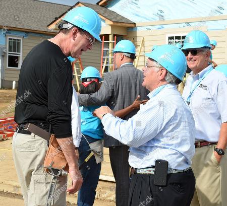 Stock Photo of Jonathan Reckford, CEO of Habitat for Humanity International and Nashville Mayor John Cooper