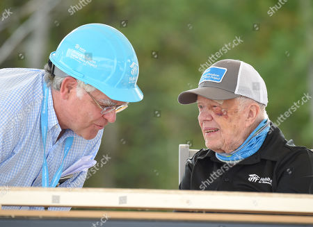Nashville Mayor John Cooper and Jimmy Carter