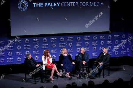 Stock Picture of Paul Reiser, Jane Seymour, Sarah Baker, Michael Douglas, David Fear (Moderator)
