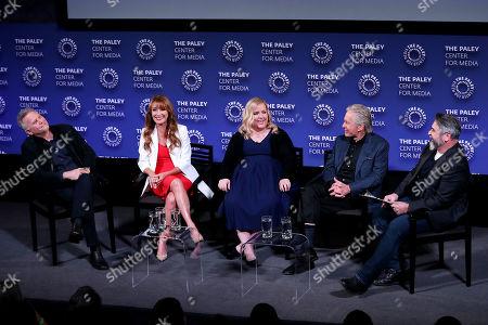 Stock Photo of Paul Reiser, Jane Seymour, Sarah Baker, Michael Douglas, David Fear (Moderator)