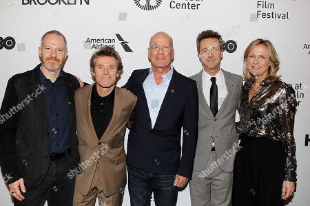 Toby Emmerich, Willem Dafoe, Bruce Willis, Edward Norton and Ann Sarnoff