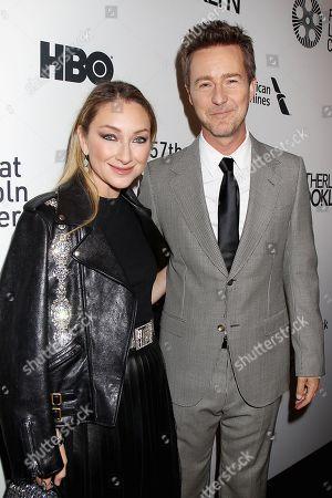 Blair Rich and Edward Norton