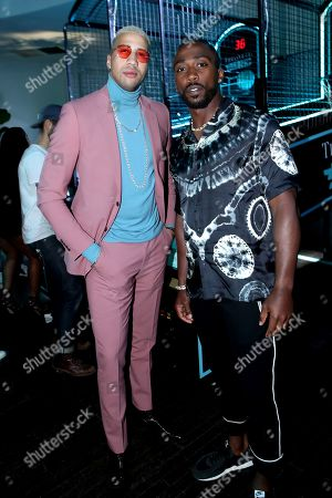 Exclusive - Miles Chamley-Watson and Tyrod Taylor attend Tiffany & Co. Mens Launch, held at Hollywood Athletic Club, Los Angeles, CA @tiffanyandco #TiffanyMens