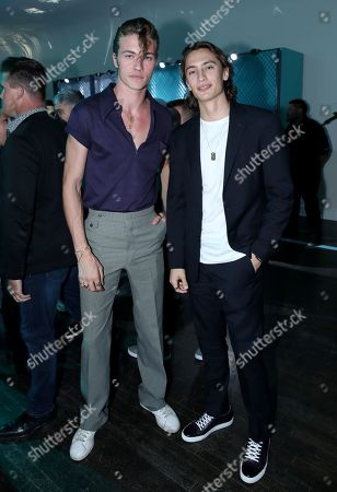 Exclusive - Lucky Blue Smith and James Turlington attend Tiffany & Co. Mens Launch, held at Hollywood Athletic Club, Los Angeles, CA @tiffanyandco #TiffanyMens