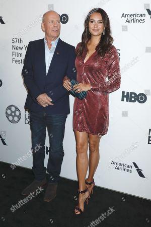 Stock Image of Bruce Willis and Emma Heming